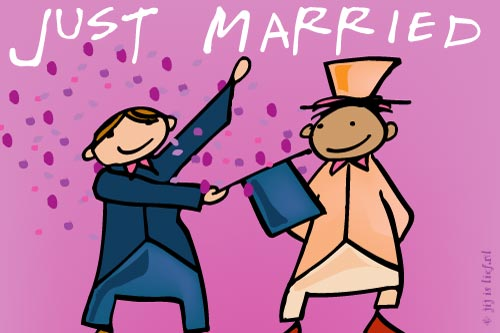 Kaart: Just married
