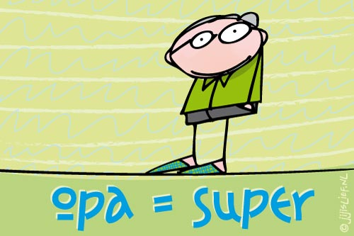 Kaart: Opa is super